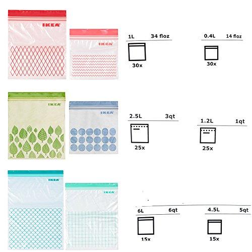 Ikea ISTAD Plastic Bag, Zip-Poly-Beutel, Lagerung Gefrierbeutel (verschiedene Größe)
