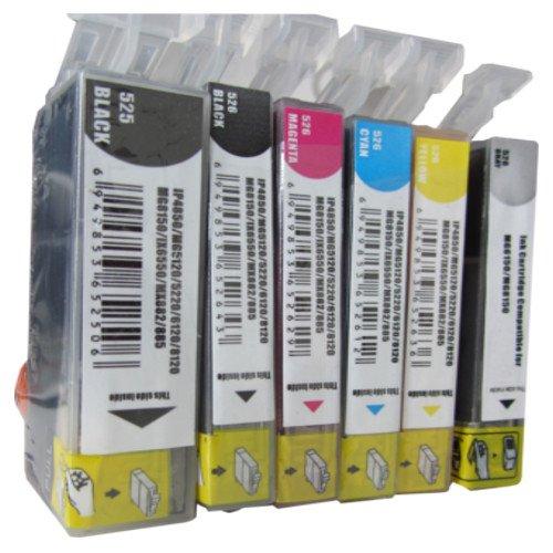 ESMOnline 6 komp. Druckerpatronen als Ersatz für Canon Pixma MG6100 MG6150 MG6200 MG6250 MG8100 MG8150 MG8200 MG8250