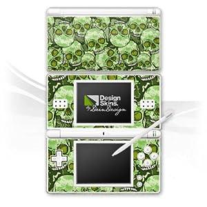 DeinDesign Skin kompatibel mit Nintendo DS Lite Aufkleber Sticker Folie Skull Pattern Muster