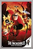 The Incredibles Poster Expect The Incredible (66x96,5 cm) gerahmt in: Rahmen silber