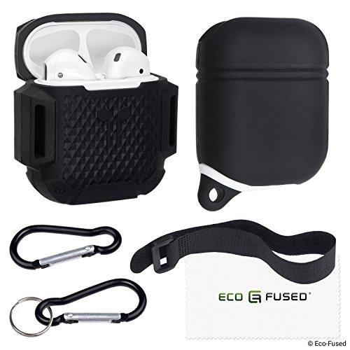 1x Wasserdichte und 1x stoßfeste Schutzhülle für Apple AirPods Gehäuse - Packung mit 2...