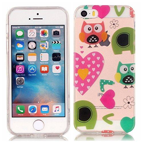 TPU Silikon Schutzhülle Handyhülle Painted pc case cover hülle Handy-Fall-Haut Shell Abdeckungen für Smartphone Apple iPhone 5 5S SE +Staubstecker (10FN) 11