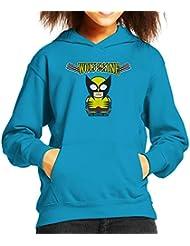 Wolverine Cartoon Figure Kid's Hooded Sweatshirt