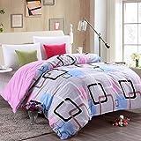 Puro algodón solo duvet cover/Otoño e invierno algodón edredón individual/ cómodo y respirable edredón-G 200x230cm(79x91inch)
