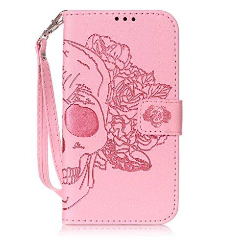 New Style gepresst Embossing Blumen Windchime Muster Retro Folio Flip Stehen Wallet Case mit Handschlaufe für Samsung Galaxy J310 ( Color : 14 , Size : Samsung Galaxy J310 ) 4