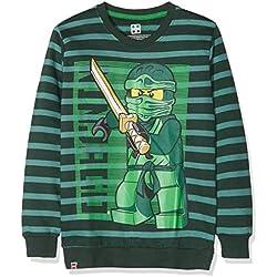 LEGO Wear Ninjago M-72647, Sudadera para Niños, Verde (Green 890), 152