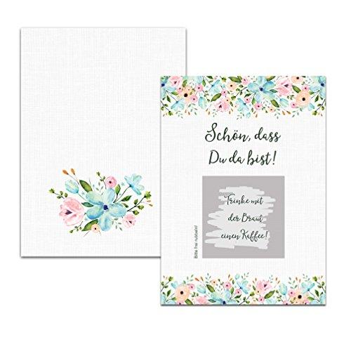 """50 Rubbelkarten \""""Weiße Hochzeit!\"""", Hochzeit Spiel, Gastgeschenk Hochzeit"""