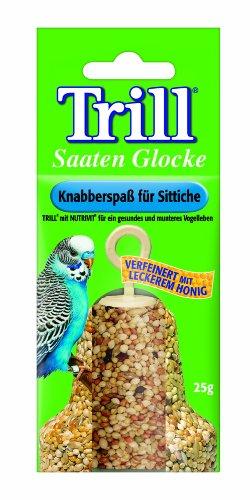 Trill Vogelfutter Saaten Glocke mit leckerem Honig, 12 Packungen (12 x 25 g)