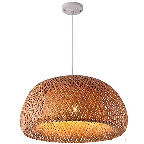 String-kronleuchter Schatten (Moklo Deckenleuchte, handgewebte Bambus Anhänger Kronleuchter, kreative Laterne Bambus Lampenschirm hängende Lichter E27 (ohne Lichtquelle),60cm)