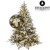 Excellent Trees Weihnachtsbaum LED OTTA 210 cm mit Beleuchtung - Luxusedition - 420 Lämpchen