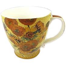 """Les Trésors De Lily [P0337] - Mug porcelaine """"Vincent Van Gogh"""" Les Tournesols"""