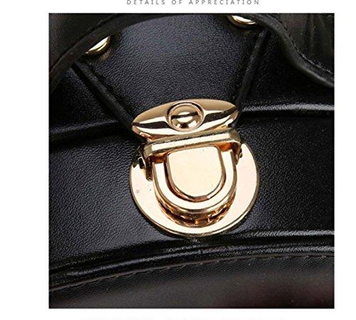QPALZM Frau 2017 Kleine Runde Tasche Mode Blume Schultertasche Messenger Tasche Mini-Stereotypen Handtasche Quaste Kupplung Black