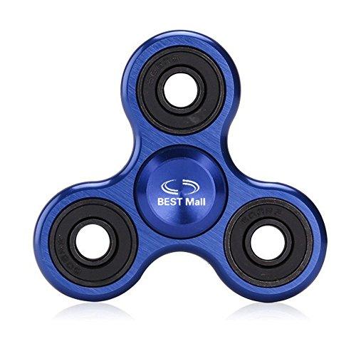 Preisvergleich Produktbild Spinner Fidget Spielzeug für die Hand / Finger als Ablenkung aus Teilcarbon mit Drei / Trio Kugellager Perfekt für ADS, ADHS, Angstzustände und Autismus Erwachsene Kinder (Blaue Aluminiumlegierung)