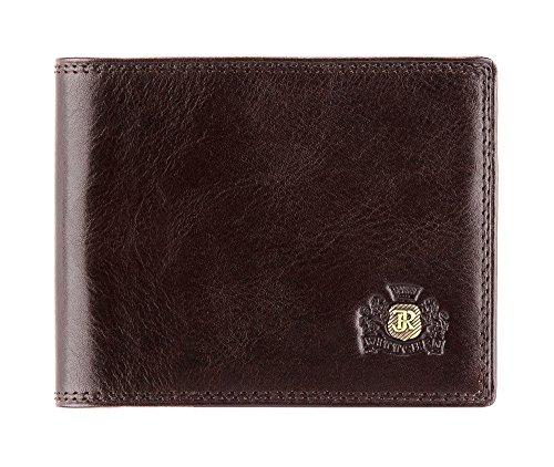 Wittchen Geldbeutel | Farbe: Braun| Material: Narbenleder| Größe: 12x9,5 CM, | Orientierung: Horizontal | Kollektion: Da Vinci| 39-1-173-3 (Geprägte Fossil Brieftasche)