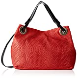 Chicca Borse Damen 80059 Umhängetasche, Rot (Rosso), 38x28x10 cm