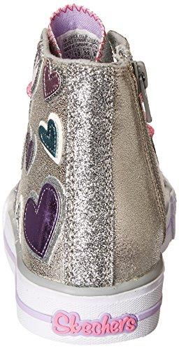 Skechers , Mädchen Sneaker Silber (Silber)
