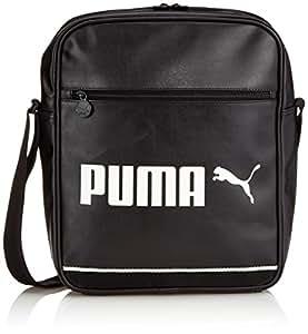 Puma Tasche Campus Flight Bag, Black/Whisper White, 28 x 35 x 11 cm, 11.4 Liter, 073652 01