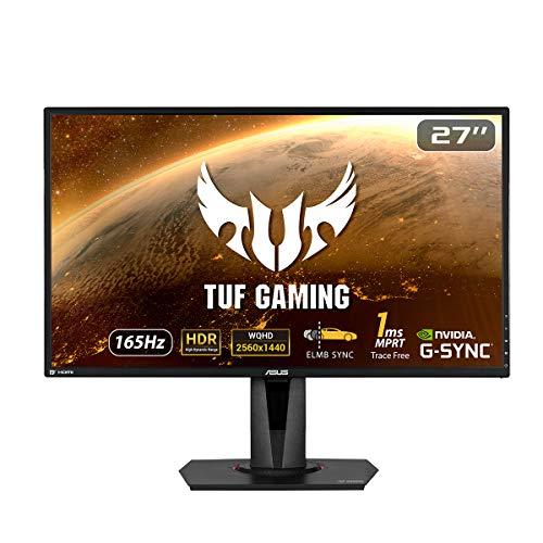 "ASUS TUF Gaming VG27AQ - Ecran PC Gamer eSport 27"" WQHD - Dalle IPS - 16:9 - 165Hz - 1ms - 2560x1440 - DP & 2x HDMI - Haut-parleurs - Nvidia G-Sync - AMD FreeSync - Extreme Low Motion Blur - HDR 10"