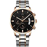 Hot Selling! YANG-YI Luxury Quartz Sport Military Stainless Steel Dial Leather Band Wrist Watch - B07H7LV1Z3