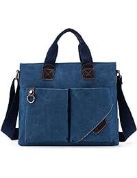 NBAG Sac à Bandoulière Toile Casual Messenger Bag Hommes Sac à Main Section Verticale Business Briefcase,D
