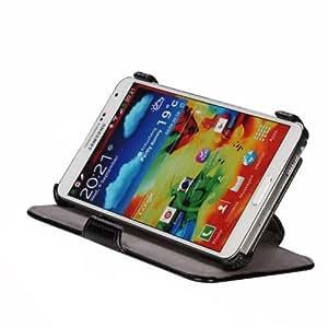 EasyAcc Étui à rabat en cuir pour Samsung Galaxy Note 3 N9000/N9005 (peau sintã © TICA fonction support) c