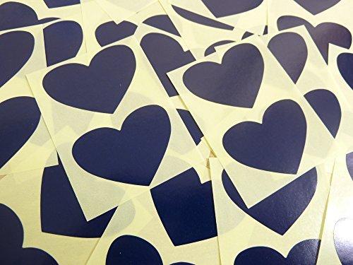 50x37mm Azul Marino Oscuro azul Con Forma De Corazón Etiquetas, 40 auta-Adhesivo Código De Color Adhesivos, adhesivo Corazones para Manualidades y Decoración