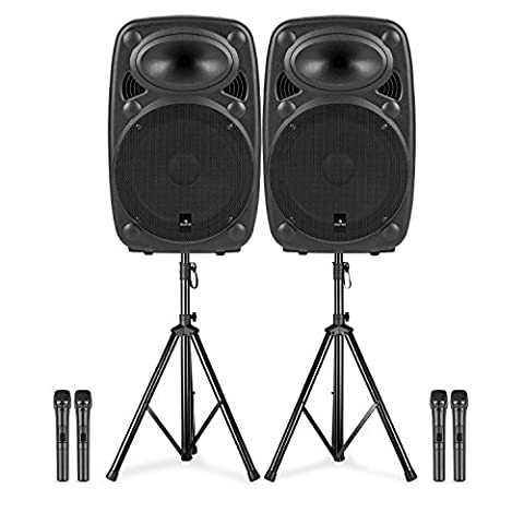 auna Streetstar 12 • Double Star Boxen Set • mobile PA-Anlage • Lautsprecher Paar • 12