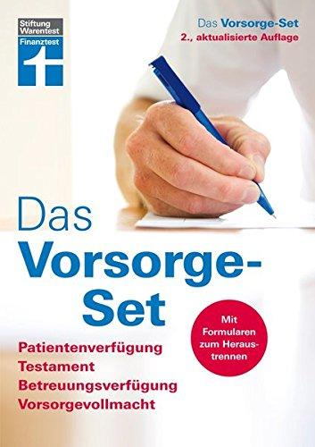 Preisvergleich Produktbild Das Vorsorge-Set: Patientenverfügung, Testament, Betreuungsverfügung, Vorsorgevollmacht