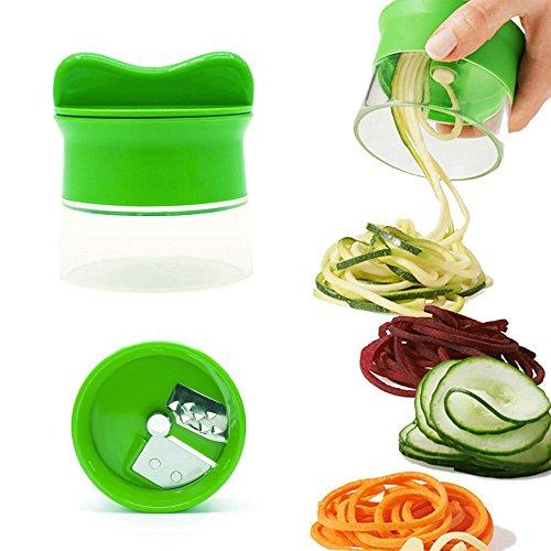 Rocita Cortador de Verduras Frutas Máquina de Cortar Espiral para Rallador Utensilios de Cocina Herramienta de Cocina Color Verde 1 Pieza