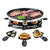 Raclette Grill for 8 People Party with 8 Mini Raclette Grills Pans Barbecue