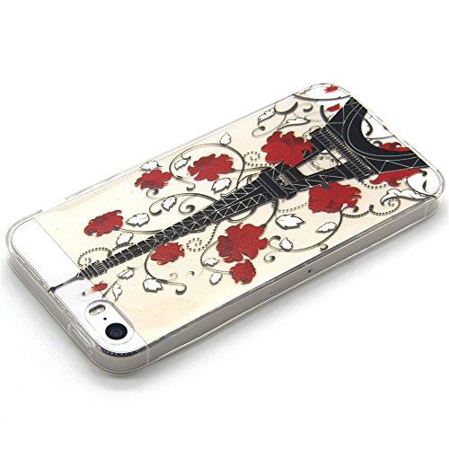 Qissy® Schutzhülle für iPhone 5/ iPhone 5s Hülle Schlank Transparent Weicher Gel TPU Silikon Handy Hülle Bunt Telefon Kasten Abdeckung Case (iPhone 5/ iPhone 5s, style 16) Style 10