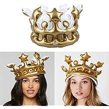 Kicode Herramientas de Suministros PVC Oro Corona de cumpleaños Cosplay Creativo del cumpleaños de los niños