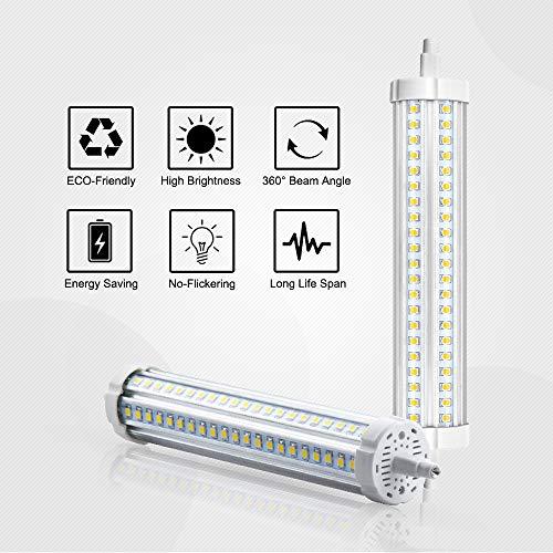 R7s Stableuchte 189mm 30W LED Strahler 3000Lumen 360°Abstrahlwinkel Kaltweiß6000K 132Stück hoch Helligkeit LED Chips J Typ J189 Flutlicht Äquivalent zu 450W Halogenbirne(2 Stück Nicht Dimmbar)