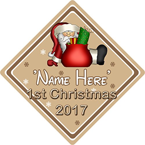 Personalizado bebé Primera Navidad árbol Navidad