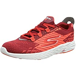 Skechers Performance Go Run 5, Zapatillas de Deporte Exterior para Hombre, Rojo (Red/Orange), 42.5 EU