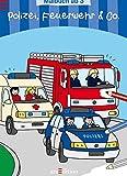 Malbuch ab 3 Jahren - Polizei, Feuerwehr & Co.