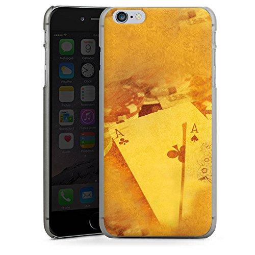 Apple iPhone X Silikon Hülle Case Schutzhülle Karten Poker Casino Hard Case anthrazit-klar