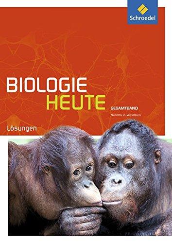 Biologie heute SII - Ausgabe 2014 für Nordrhein-Westfalen: Gesamtband: Lösungen