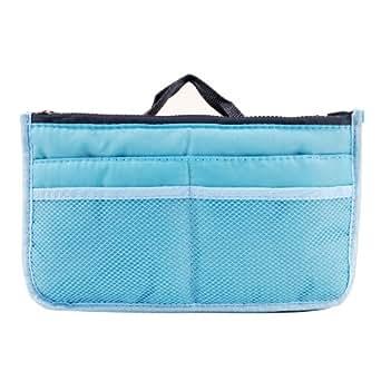 Kosmetik Handtasche Organizer Tasche Ordnung fuer Reise Make Up Tool Stift Blau