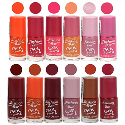 Fashion Bar Gel Nail Polish in ( Fantasy Orange,Deep Pink,Neon Pink,Peach,Shimmer Voilet,Rani Pink,Cherry Red,Orange,Maroon,Voilet Purple,Rich Brown,Deep Pink Shades)