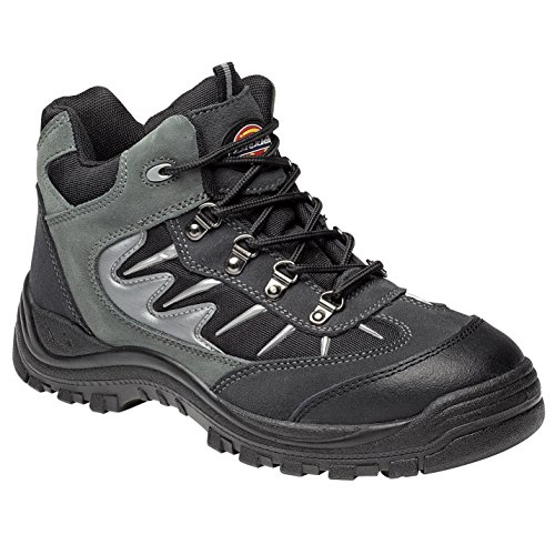 Dickies Storm Super Safety Trainer - Grey/ Black - UK 10 / US 11 / EU 44 Black Super Street Boot
