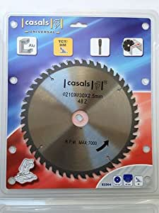 Disco Lama Per Sega Circolare Per Alluminio 210X30X2,5Mm Z=48 Nuovo