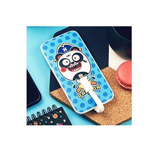 Wangjia 8000Ma, Ultra-Dünne Bewegliche Externe Akkus Power Bank, Lustige Austauschbare Aufladung der Aufladungen Führt iPhone/Android Bestes Geschenk