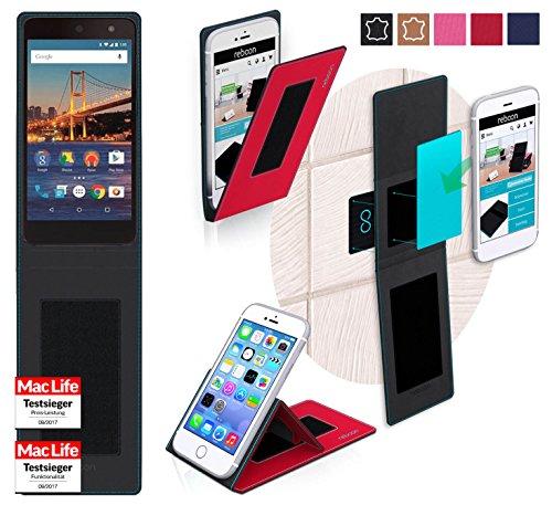 reboon Hülle für General Mobile 4G Tasche Cover Case Bumper | Rot | Testsieger