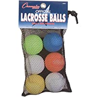Champion Sports Lacrosse balls-pack de 6