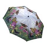 Schmetterling Mountain Faltbarer Regenschirm mit Automatik Öffnen und Schließen
