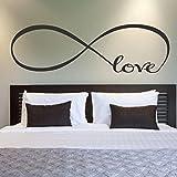 Wall Sticker, DDLBiz® Adesivi Murales, 44 * 120CM arredamento camera da letto Wall Stickers Decor Infinity Simbolo Parola Amore arte del vinile muro