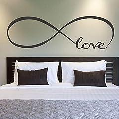 Idea Regalo - Wall Sticker, DDLBiz® Adesivi Murales, 44 * 120CM arredamento camera da letto Wall Stickers Decor Infinity Simbolo Parola Amore arte del vinile muro