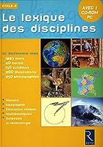 LEXIQUE DES DISCIPLINES + CDR de BERNADETTE AUBRY