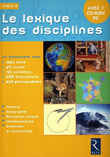 LEXIQUE DES DISCIPLINES + CDR